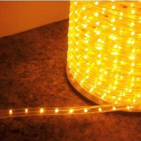 "Yellow LED Rope Light, 2 Wire, 1/2"", 150FT Spool"