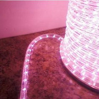 "Pale Pink LED Rope Light, 2 Wire, 1/2"", 150FT Spool"