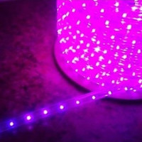 "Purple LED Rope Light, 2 Wire, 1/2"", 150FT Spool"