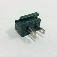 Male Slide On Plug Green SPT1- 10 Pack