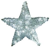 Crystal Star LED Beaded Tree Topper