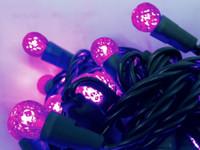 Purple G12 LED Mini Lights, 50 Lights, 25FT