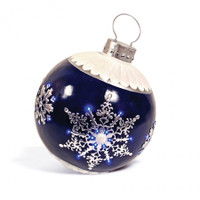 """30"""" Lighted Blue Ornament"""