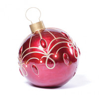 """30"""" Lighted Red Ornament"""