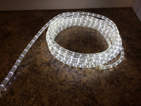 30FT of LED 2 Wire Rope Light - Color: Cool White