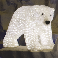 Acrylic Polar Bear - Mommy