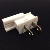 Male Slide On Plug White SPT1