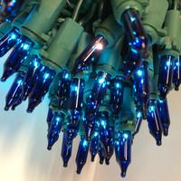 100 Blue Mini Lights Green Wire 2