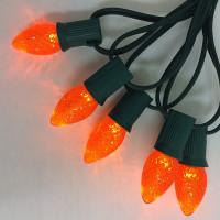 C7 Orange Faceted LED Bulbs -  Case of 500 Replacement Bulbs