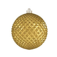 """Durian Gold 4"""" (100mm) Shatterproof Ornaments - Set of 12"""