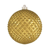 "Durian Gold 5"" (130mm) Shatterproof Ornaments - Set of 12"