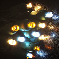 Champagne Colored LED Wide Angle Mini Light String - 50 Lights/25 Feet