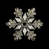 "9.25"" Clear Acrylic Snowflake Ornament with Silver Accents"