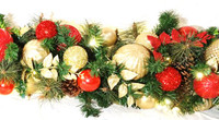 Holiday Favorite(Red & Gold) Lighted Garland