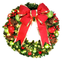 3FT Jolly Decor Wreath With Red Bow
