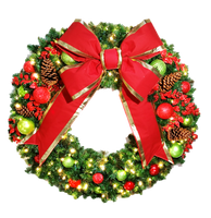 4FT Jolly Decor Wreath with Red Bow
