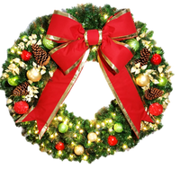 4FT Classic Decor Wreath with Red Bow