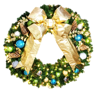 4FT Contemporary Decor Wreath with Gold Bow