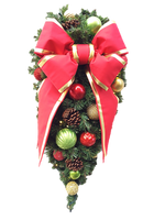 4FT Classic Decor Spray with Red Bow