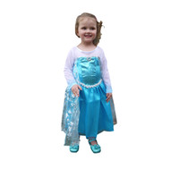 Libby in Queen Elsa Dress Front.