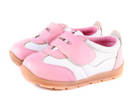 Girls Pink Genuine Leather Sneaker.