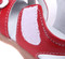 Girls Red Genuine Leather Open Sandal velcro.
