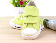 Green Canvas shoe.
