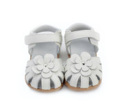 Toddler Girls White Genuine Leather Sandal.