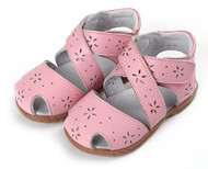 Pink 'Wrap Around' Genuine Leather Sandal.