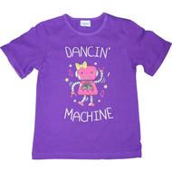 Girls Purple 'Dancin Machine' Robot Tshirt