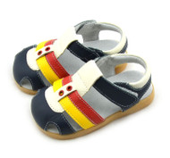 Boys Navy, White & Yellow Genuine Leather Sandal.