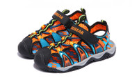 Boys Black & Orange Beach Sandal.