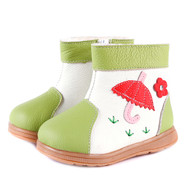 Green & White Fur Ugg Boots