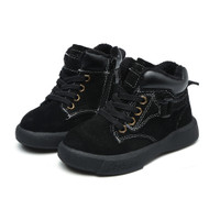 Boys Black Leather Boots.
