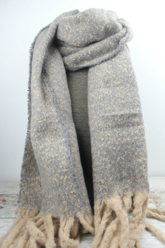 Pink & Grey Speckle Scarf