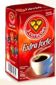 Box of 3 Coracoes Extra Strong (20 x 8.8oz) Brazilian Coffee