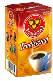 Box of 3 Coracoes Traditional (10 x 17.6oz) Brazilian Coffee
