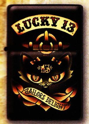 Lucky 13 Anchor Kitty Lighter