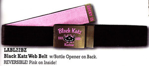 Lucky 13 Black Katz Web Belt