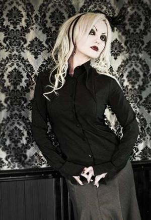 Heavy Red Gothic Lolita Black Pinnacle Dress Shirt