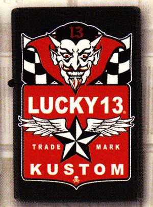 Lucky 13 Devil Flags Lighter
