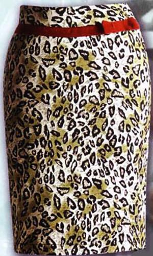 Lucky 13 Danger Leopard Skirt