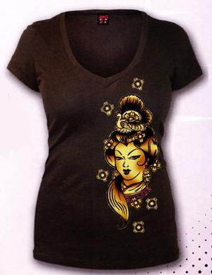 Lucky 13 Dragon Lady Deep-V T-Shirt