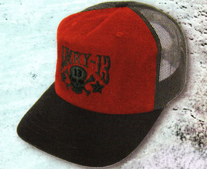Lucky 13 Washed Skull Stars Hat