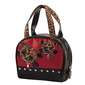 Demonia Skulls & Crossbones Bowling Bag