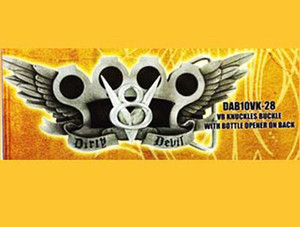 Dirty Devil V8 Knuckles Belt Buckle