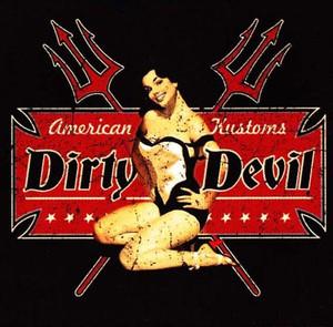 Dirty Devil Pinup Kustom T-Shirt