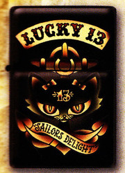 Lucky 13 Anchor Kitty Lighter