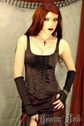 Heavy Red Eva's Wicked Black Corset