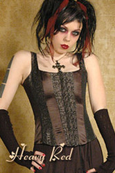 Heavy Red Alice's Naughty Floral Corset